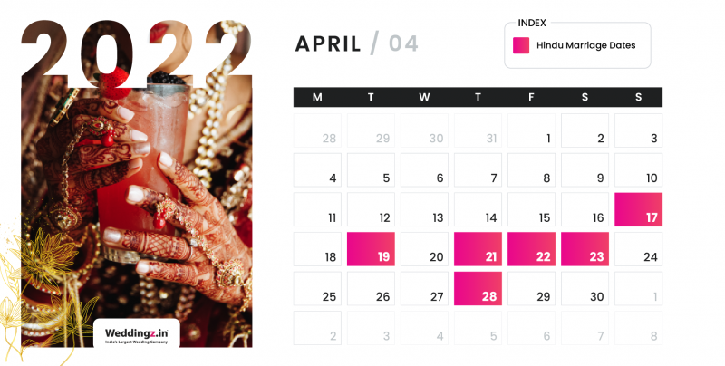 Hindu Marriage Dates in April 2022