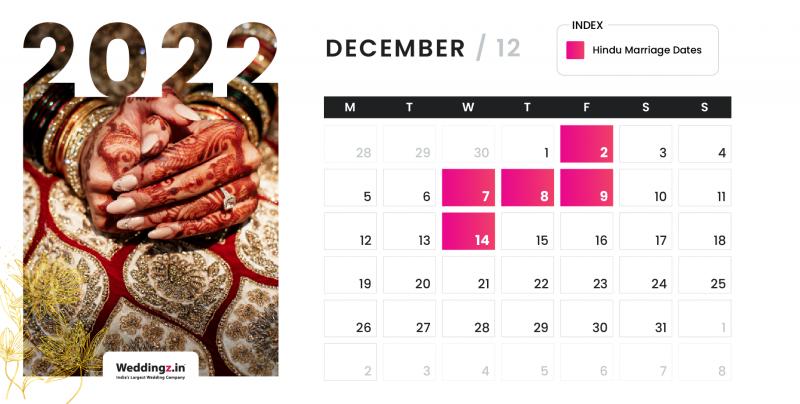 Hindu Marriage Dates in December 2022