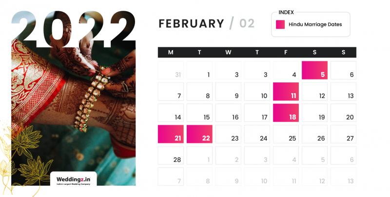 Hindu Marriage Dates in February 2022