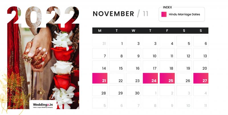 Hindu Marriage Dates in November 2022