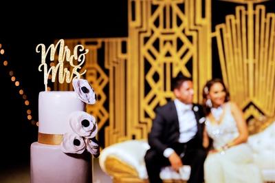elegant white cake for the reception ceremony