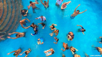 Pool party before the wedding functions