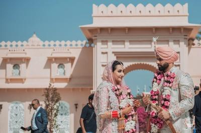 Post wedding photoshoot of the Bride and groom
