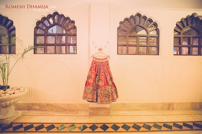 Bridal wear photography by Romesh Dhamija Productions.