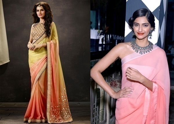 Lightweight Ombre Saree for That Classy Wedding Reception