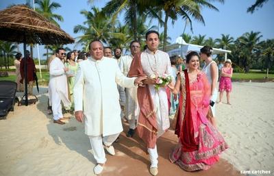 groom's entry to the wedding mandap
