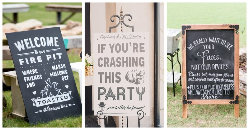 10 Clever and Hilarious Wedding Signage ideas