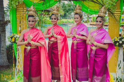 Sofitel, Krabi welcomes the wedding guests in authentic Thai style