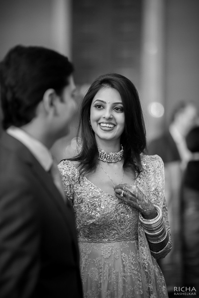 Beautiful bride captured in black and white