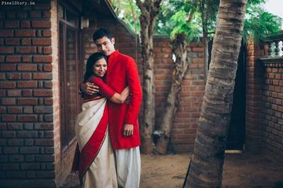 Shravan getting ready for his wedding ceremony.