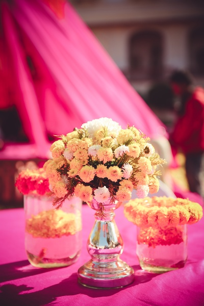 A floral theme for the mehendi function