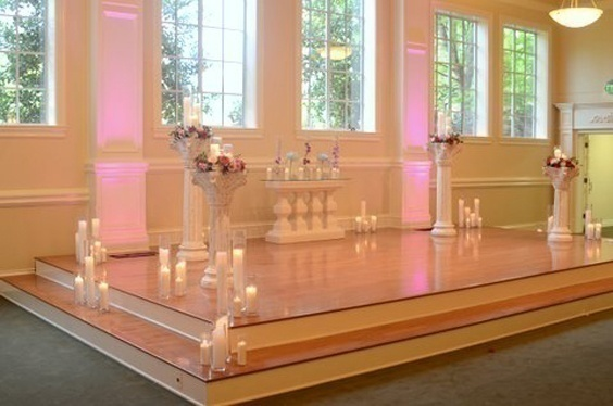 Stage decoration with candles