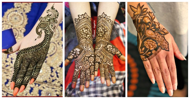 simple bridal mehndi design 2019