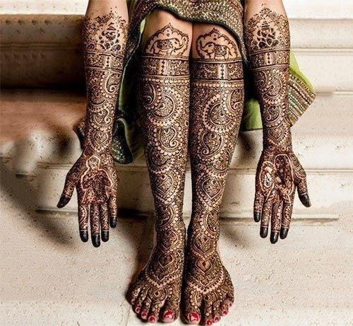best bridal mehndi design