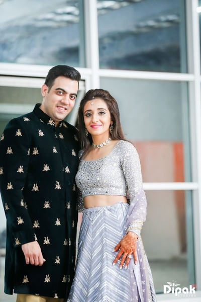 Post Sangeet photoshoot of the bride and the groom together