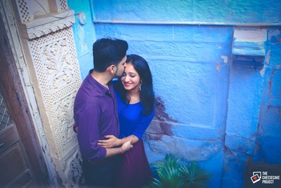 Serene pre wedding photo shoot at Hotel Jewel Palace Hotel, Jodhpur