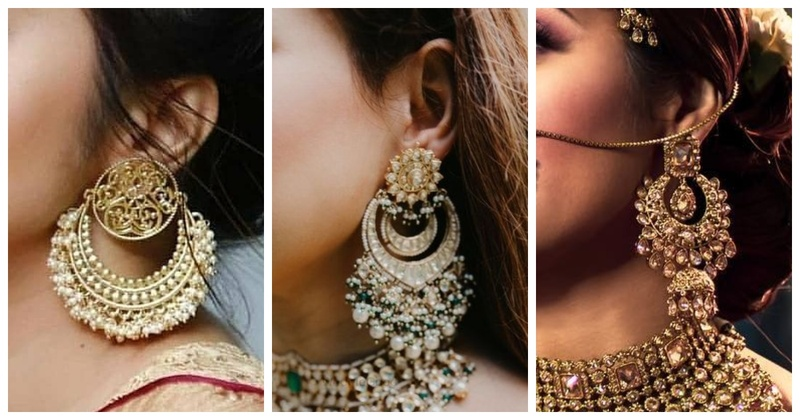 10 Chandbali earring designs to complete your traditional bridal look!