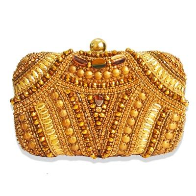 Niche Gold Queen Minaudiere Clutch