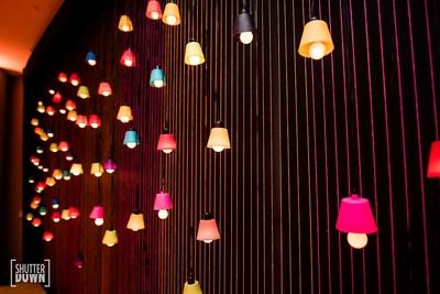 small colourful lamps- decor ideas for mehendi