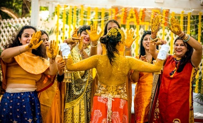 Haldi fun at Aditi and Vasu's wedding