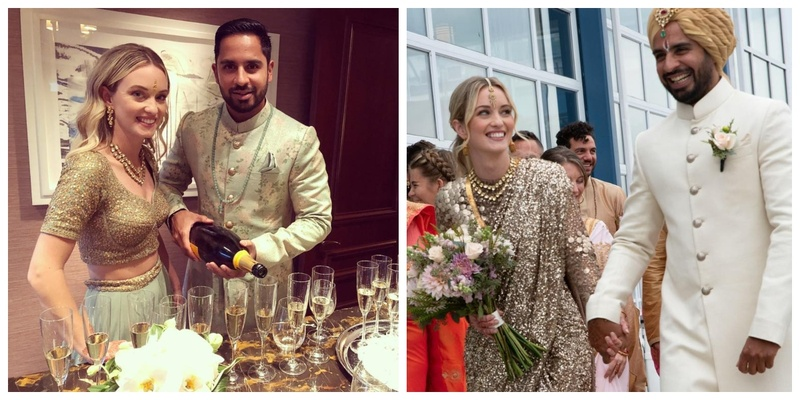 This New York City wedding with a firang bride in a desi saree has taken the internet by storm!