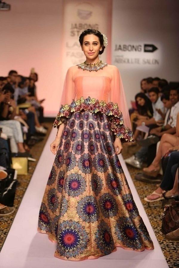 Karishma Kapoor in a very trendy bridal lehenga