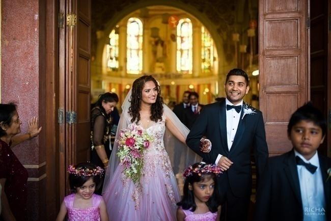 Pink Hued Wedding Gown
