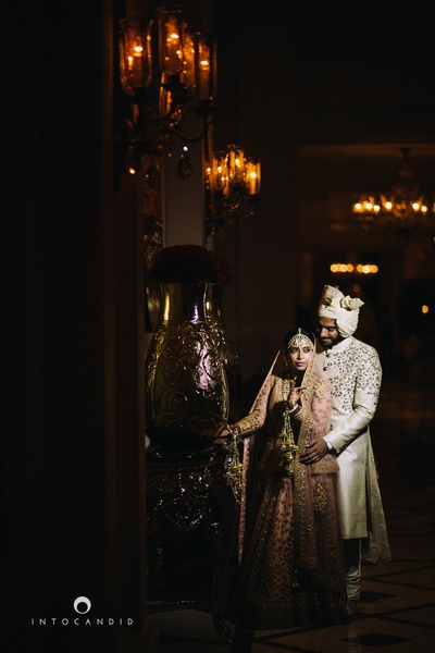 Wedding couple photography by ace photographer Into Candid Photography.