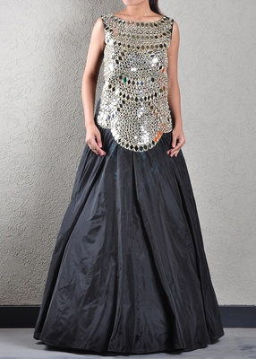 Black Mirrored Gown