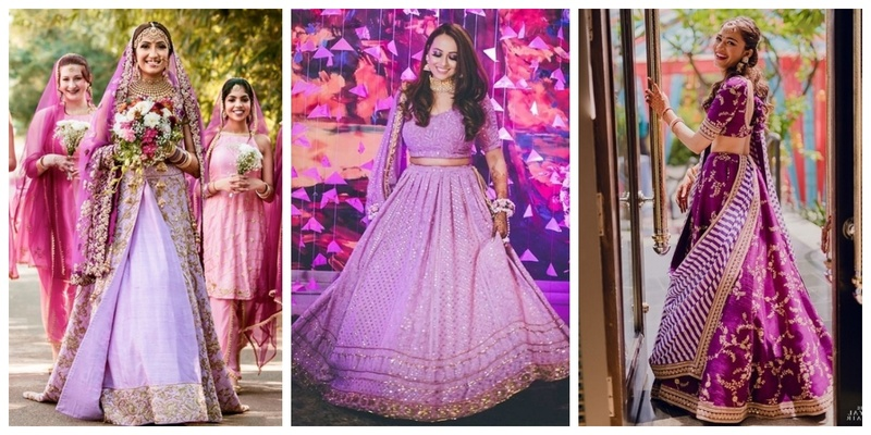 15 Beautiful Purple Lehengas that will make you ditch your Traditional Red Ones!