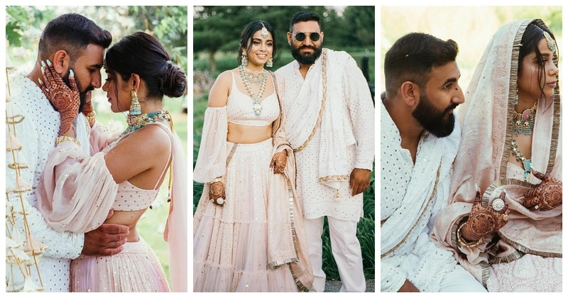 This Fashion Designer Stunned us with her Jaw-Dropping Engagement Lehenga