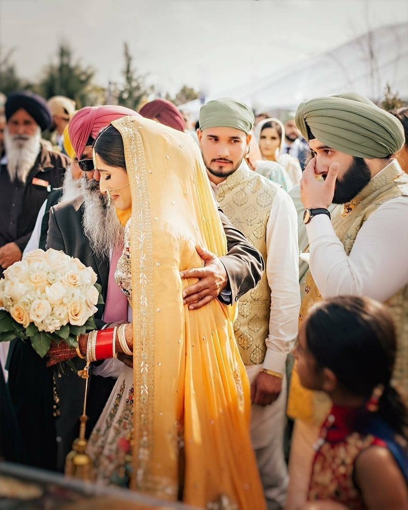 Vidaai or Bidaai is an emotional ceremony where the bride leaves her father's home and moves to a new life with her husband and his family.