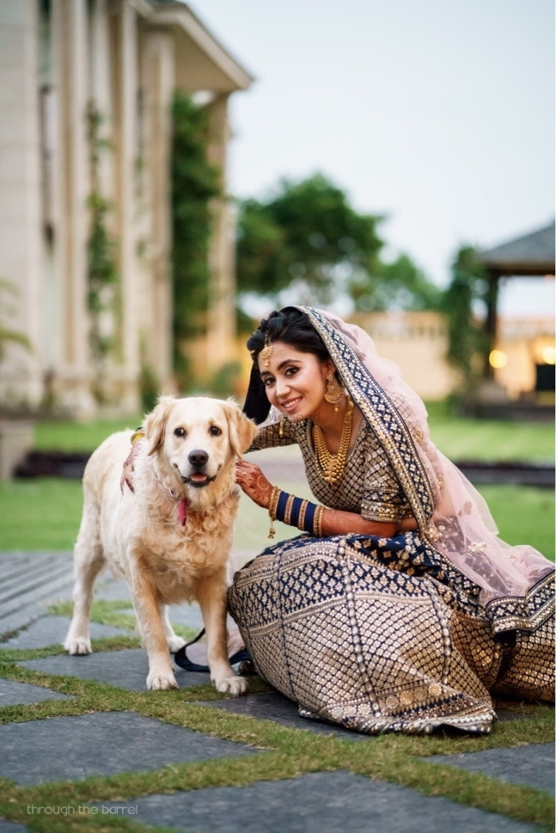 13. Posing with them on your wedding day: