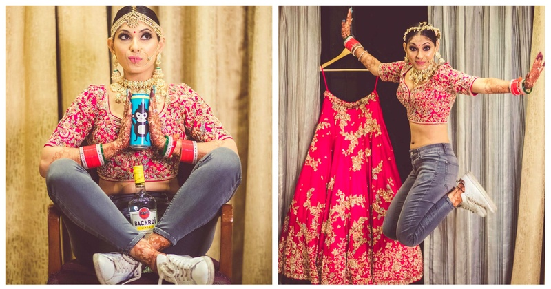 This not-so-regular bride with an infectious smile and a gorgeous pink lehenga has the coolest bridal pictures ever!