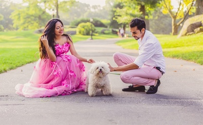 the cutest  pre wedding shoot with the cutest dog