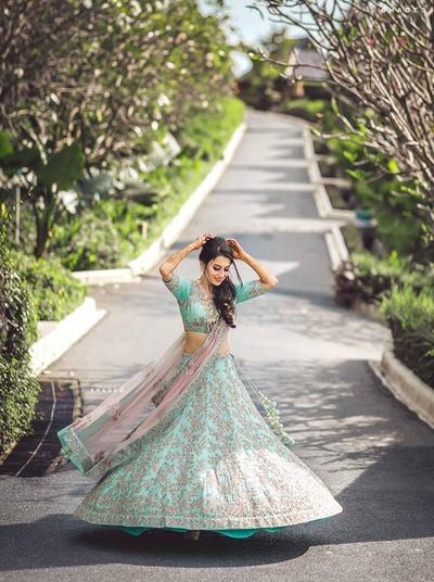 Twirling bride.