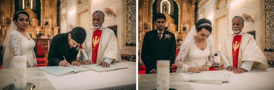 Intimate Christian wedding ceremony held in Goa