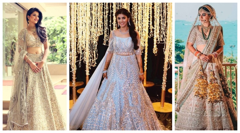 Silver and grey lehengas are trending big time this wedding season!