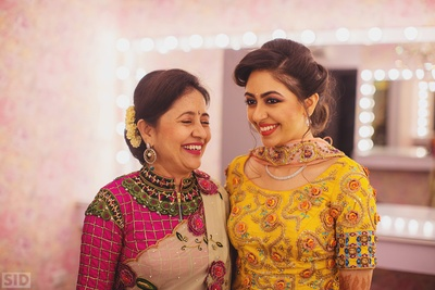 Meha with her mother for some pre sangeet candid shots!