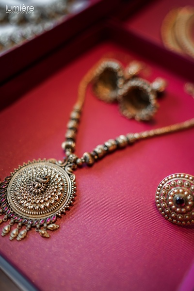 beautiful temple bridal jewellery