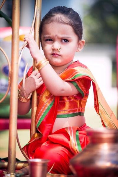 Navari Saree for the little One
