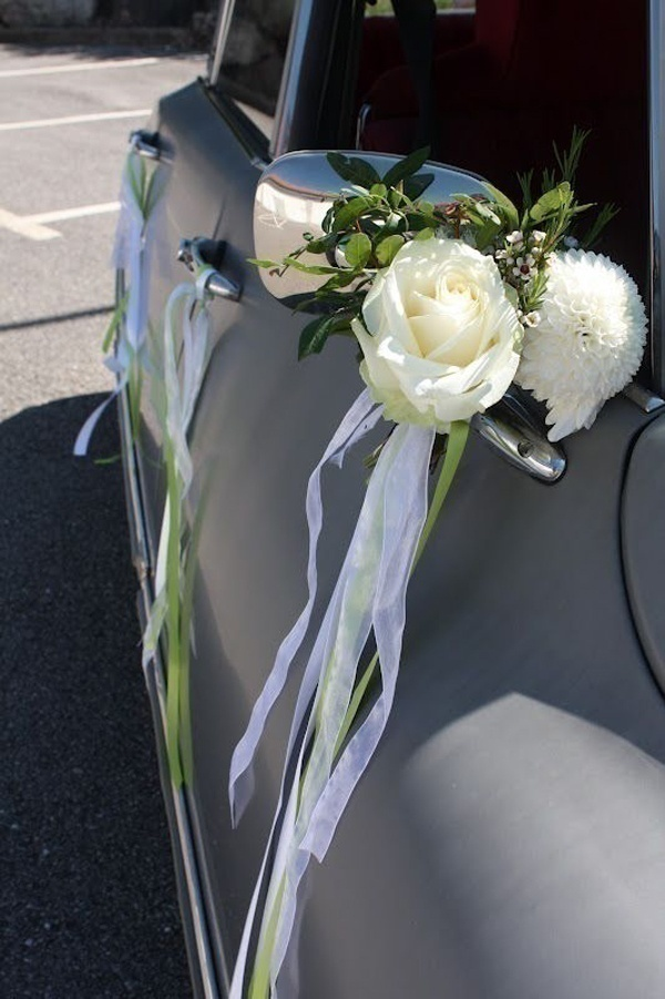Boutonniere for Your Wedding Car?
