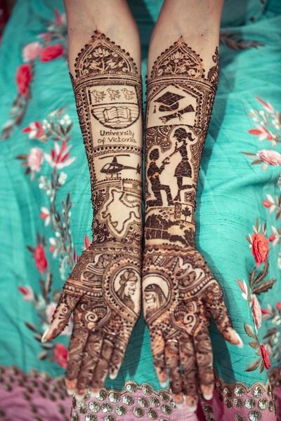 the bride's personalised mehendi