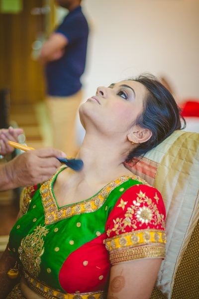Bride-to-be getting ready for her big day