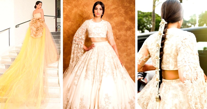 Mrs. Sonam Kapoor Ahuja gave us major Bridal Wear Goals with her 2018 Cannes looks!