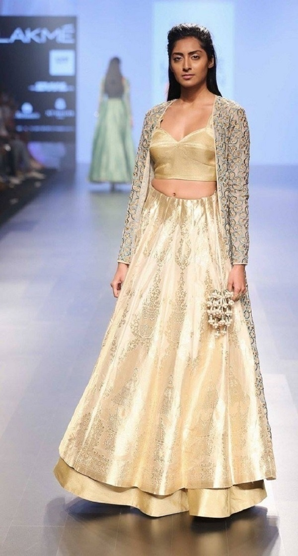 Head-Turning Bridal Lehenga Designs for Your Mehndi and Sangeet from SVA by Sonam and Paras Modi