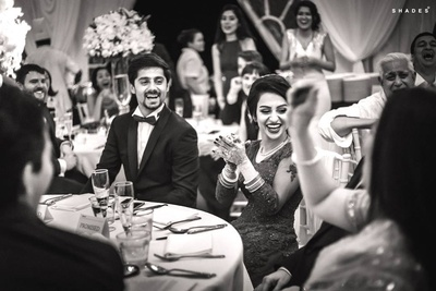 Black and white wedding photography by shades Photography.