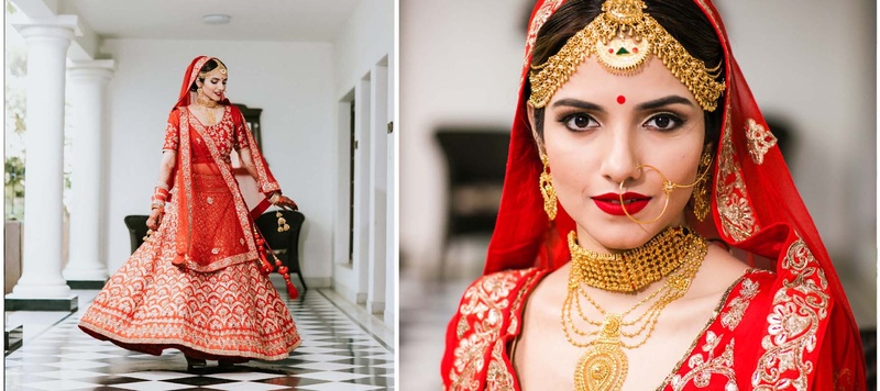Gurshaan & Priyanka Bhopal : This bride just got hitched at Amer Greens, Bhopal and we can't get over her bridal portraits!