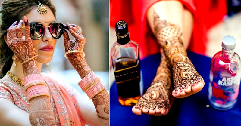 Fresh and cool ways to take your mehndi photos!