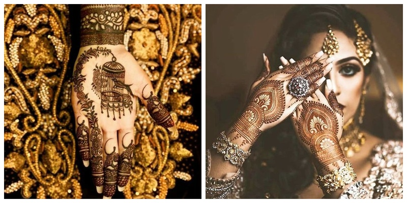 Simple mehndi design for brides who like to keep it minimal!